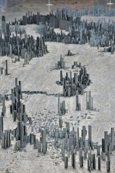 Ephemicropolis Is a Metropolis Made from Metal Staples Stacks (9 pics)