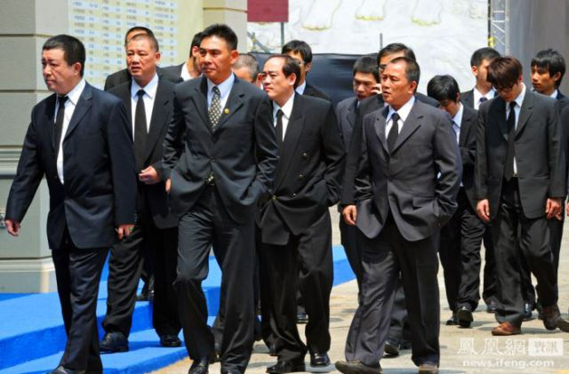 Mafia Boss Funeral in Taiwan (13 pics)