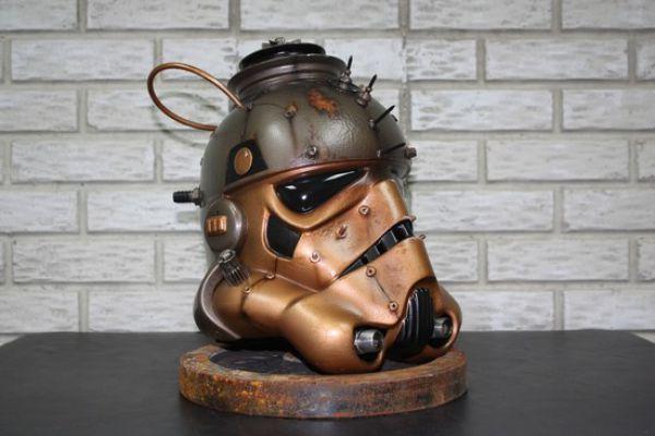 Incredible Steampunk Stormtrooper Helmet (4 pics)