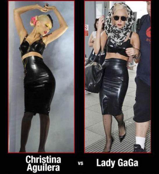 Find the Difference between Christina Aguilera and Lady Gaga (4 pics)