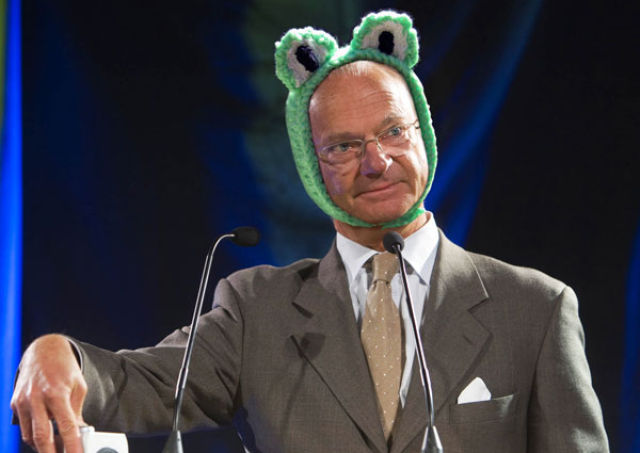Swedish King who Loves Silly Hats (22 pics)