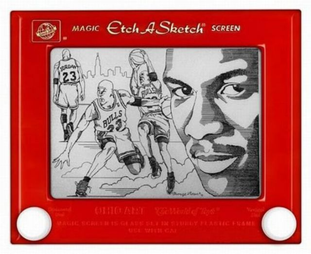 Amazing Etch A Sketch Drawings (27 pics)