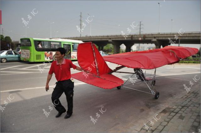 A Homemade Ultralight Aircraft Takes Off (35 pics)