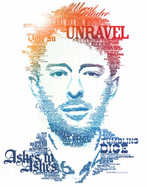 Awesome Typographic Portraits (31 pics)