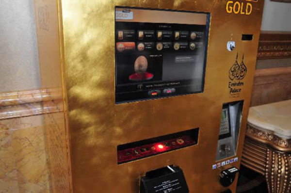 An ATM Machine That Gives Out Gold (8 pics)