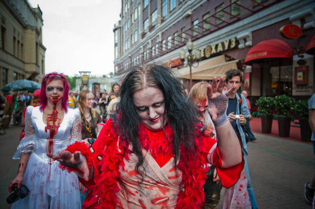 Zombie Walk in Moscow (84 pics)