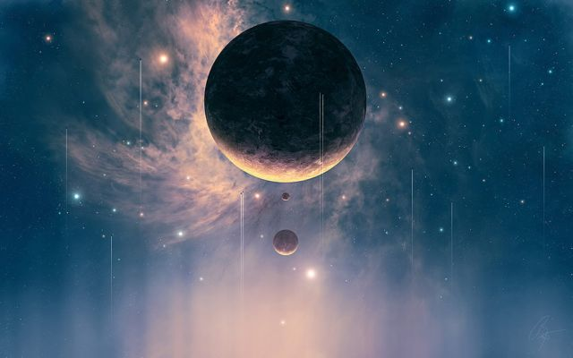 Beautiful Space Illustrations (40 pics)