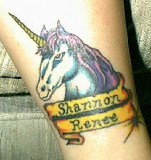 Weird Unicorn Tattoos (51 pics)