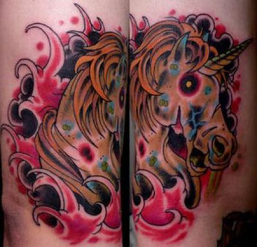 Weird Unicorn Tattoos (51 pics)