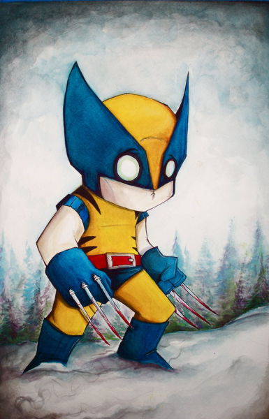 Various Comic Book Heroes Drawn by Christopher Uminga in His Unique Style (16 pics)