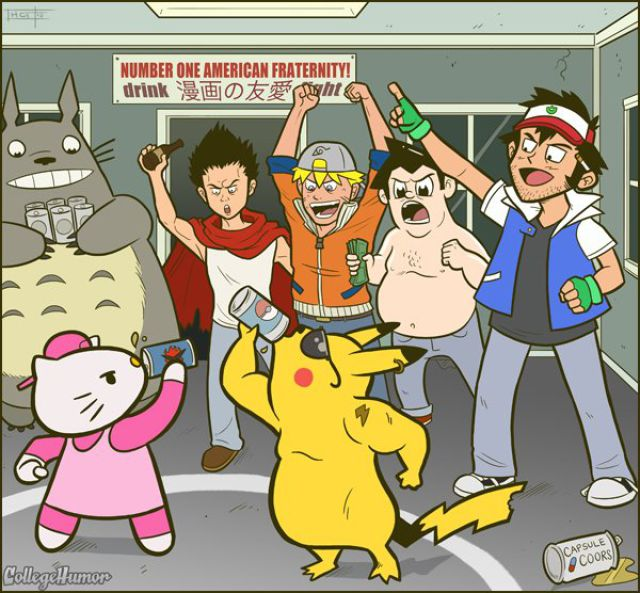 College Years of Famous Cartoon Characters (7 pics)
