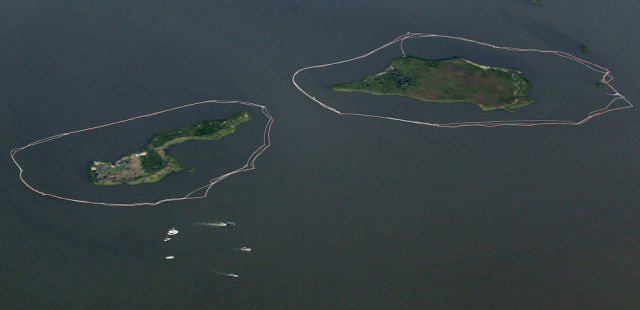 Oil Slowly Reaches Louisiana's Marshes (39 pics)