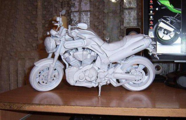 Yamaha Papercraft Sportbike (8 pics)