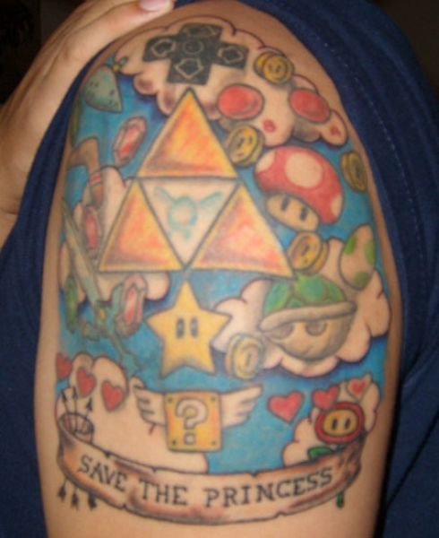 Tattoos of Famous Video Game Heroes (32 pics)