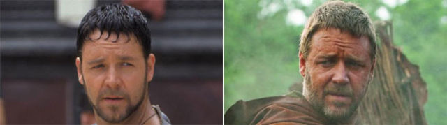 Russell Crowe: Gladiator Face vs. Robin Hood Face (7 pics)