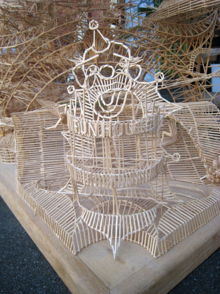 San Francisco Recreation from Toothpicks (10 pics)