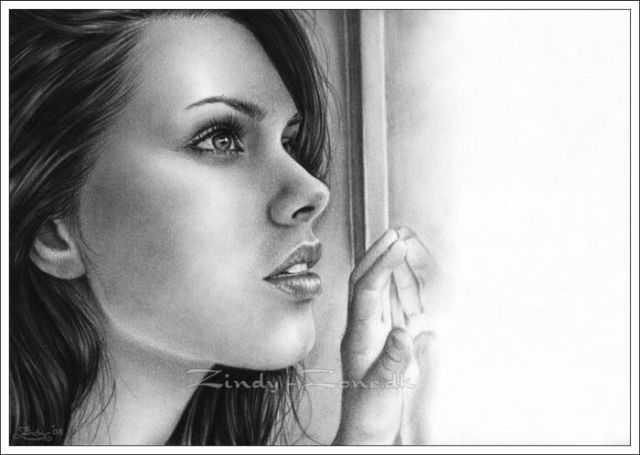 Beautiful pencil drawings of women 54 pics
