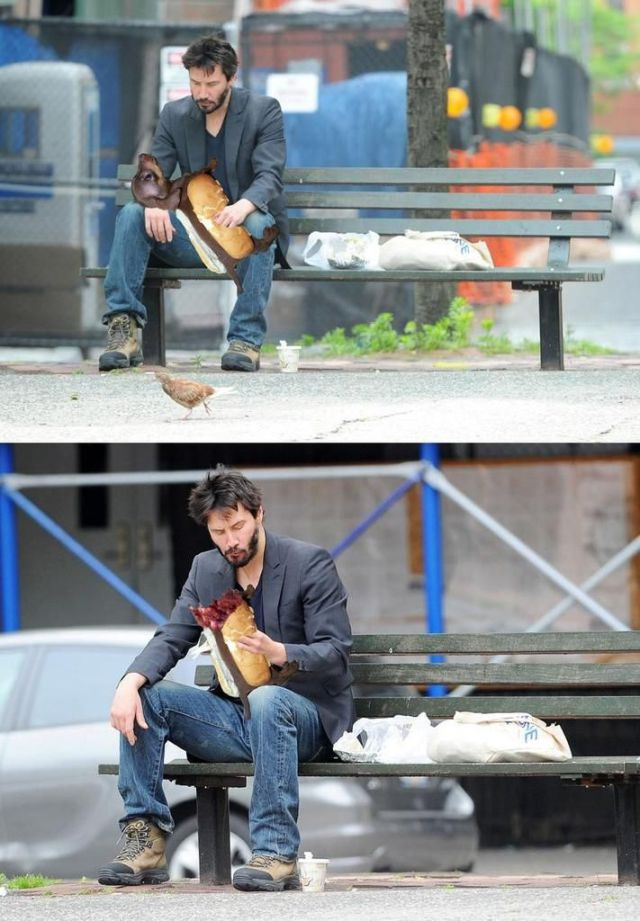 Sad Keanu Reeves (42 pics)