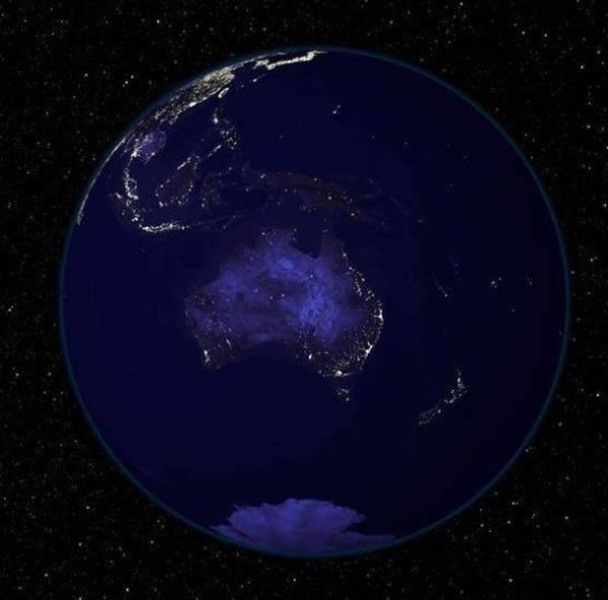 The Oldie of the Day. Earth Seen during the Night (6 pics)