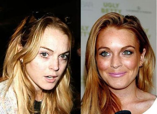 Celebrities with Bad Makeup and au Naturel (21 pics)