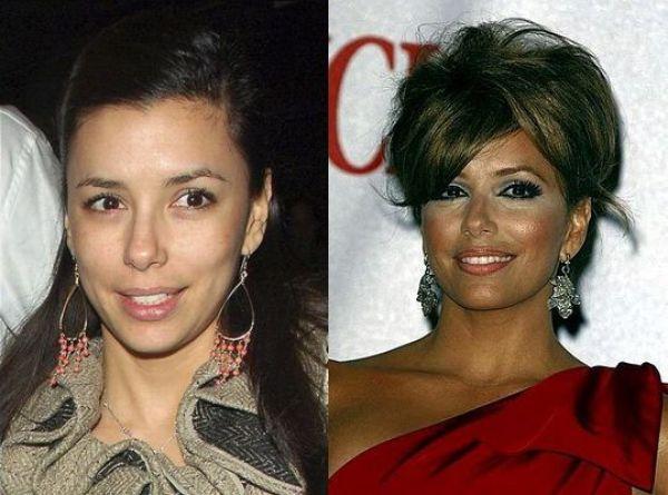 Celebrities with Bad Makeup and au Naturel (21 pics)