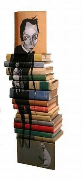 Art with Stacked Books (23 pics)
