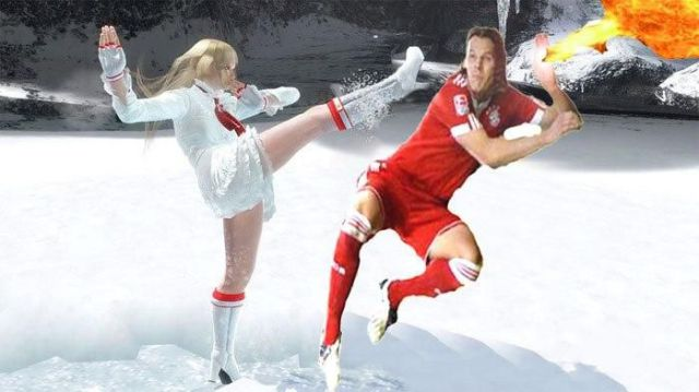 Funny Photomontage on a Soccer Player (25 pics)