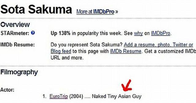 Worst IMDB Profiles (20 pics)