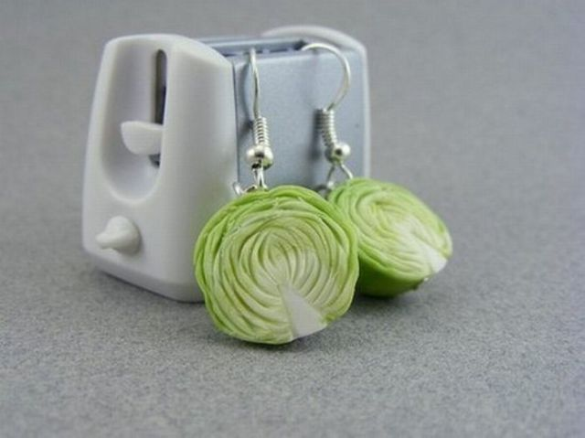 Earrings and Pendants in the Form of Food (33 pics)