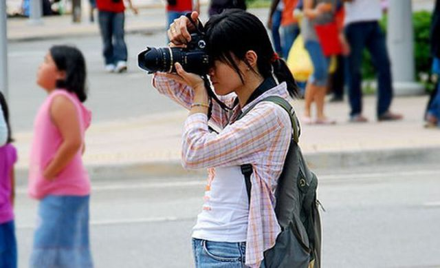 Cute Female Photographers Being photographed