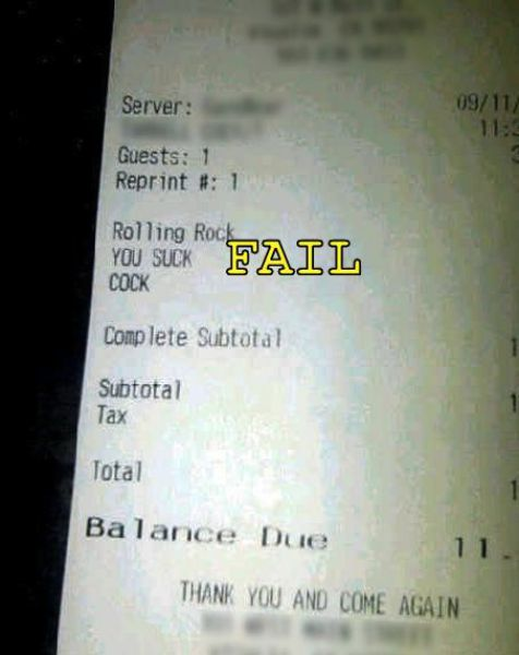 Hilarious Wins and Fails in Receipts (40 pics)