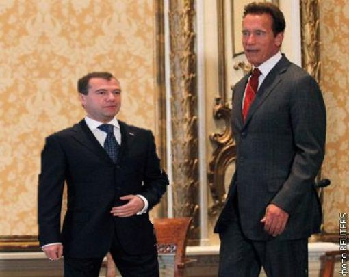 Medvedev Made a Joke to Schwarzenegger (25 pics)