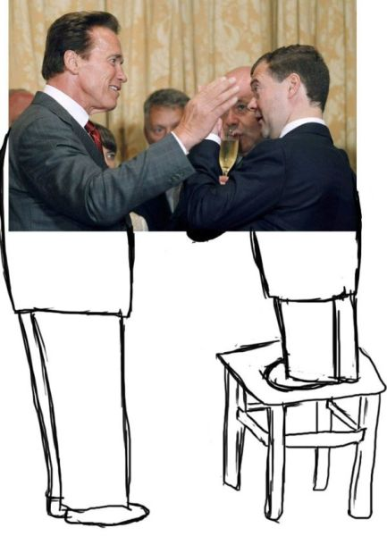 Medvedev Made a Joke to Schwarzenegger (25 pics)