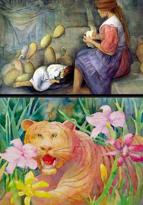Amazing Paintings of a Blind Artist (10 pics)