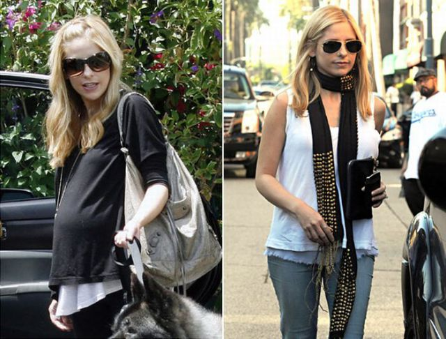 Celebrity Moms: Pregnant and After Baby (35 pics)