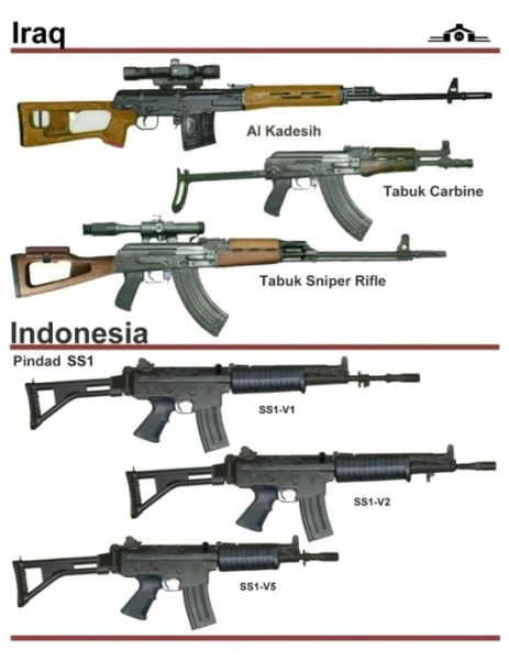 This is a collection of old guns that were used by different countries
