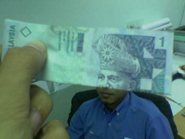 Messing Around with Money Bills (44 pics)