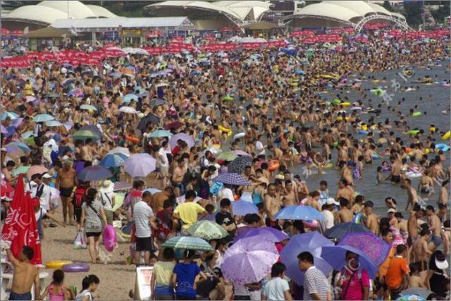 When Beach Gets Overcrowded (10 pics)