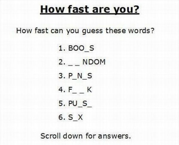 TEST: How Fast Are You? (3 pics)