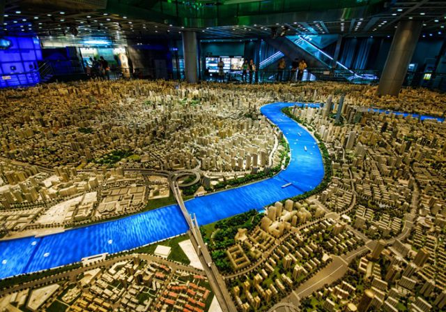 Gigantic Scale Model of Shanghai (5 pics)