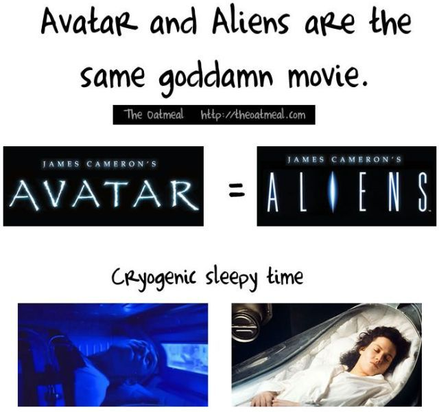 Avatar and Aliens Are Pretty Much the Same Movie (1 pic)