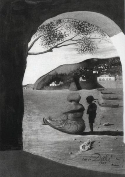 Optical Illusions in Salvador Dali's Paintings (17 pics)