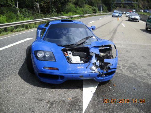 McLaren F1 100,000 Euro Damage (4 pics)
