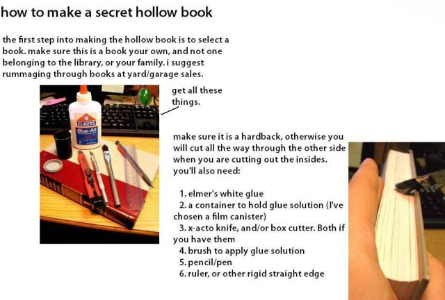 Making a Hollow Book (1 pic)
