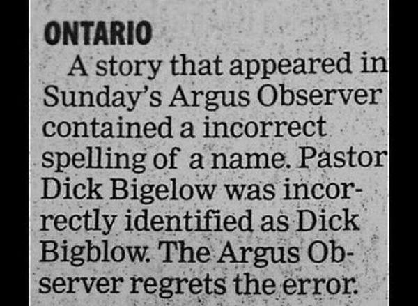 Hilarious Newspaper Retractions (15 pics)