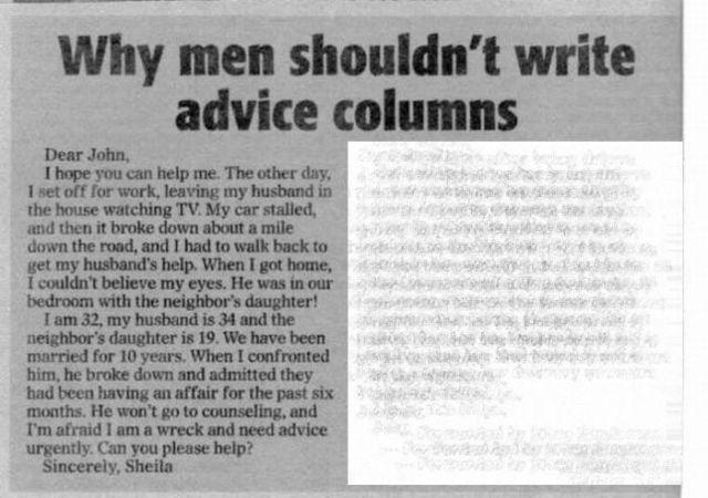 Men + Advice Column (1 pic)