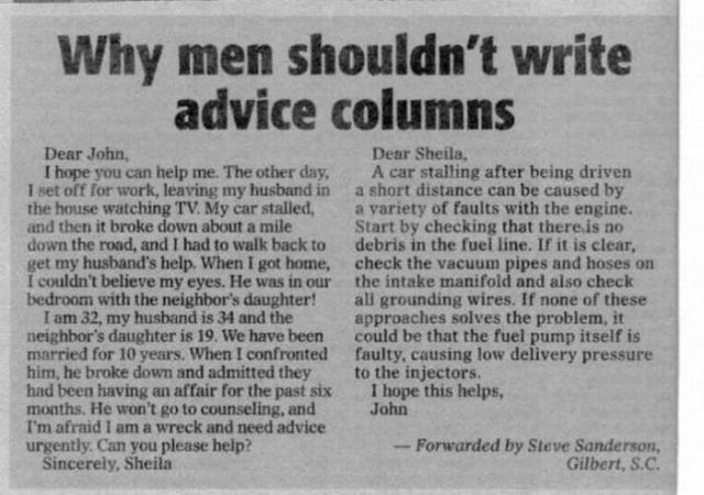Men + Advice Column (1 pic)