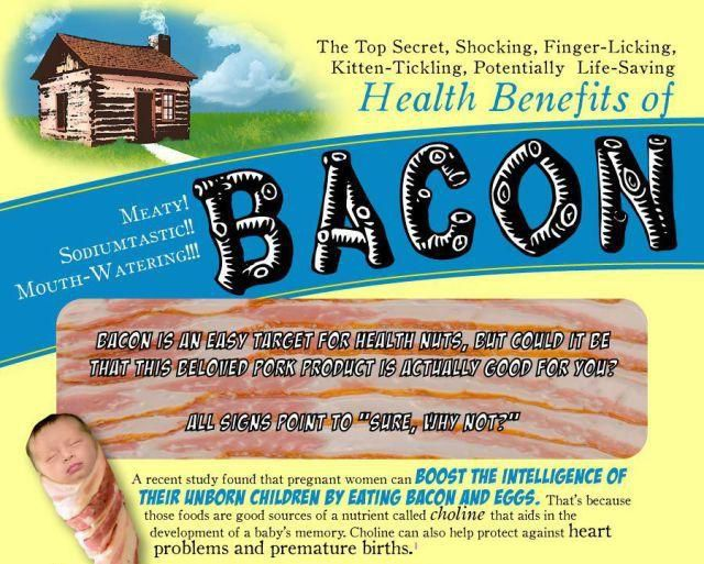 The Health Benefits of Bacon (1 pic)