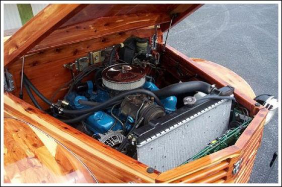 Unusual and Unique V8 Wooden Car (22 pics)
