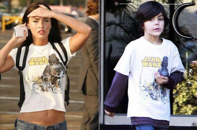 Megan Fox Wears Her Stepsons T-Shirts (3 pics)